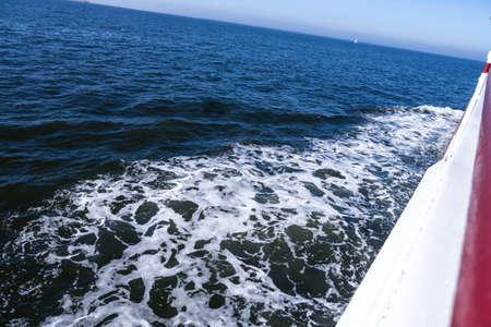 corrugation: waterway from ship (north sea)