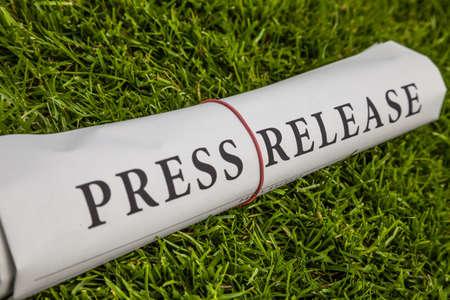 press release newspaper on meadow