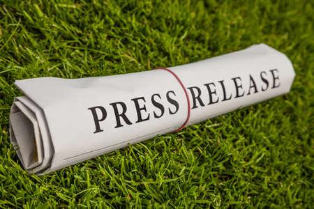 press release on green meadow photo