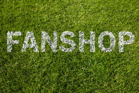 fanshop on a green meadow photo