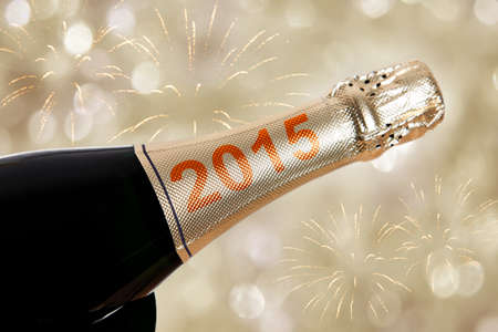 jolt: 2015 champagne on bottle for new years eve