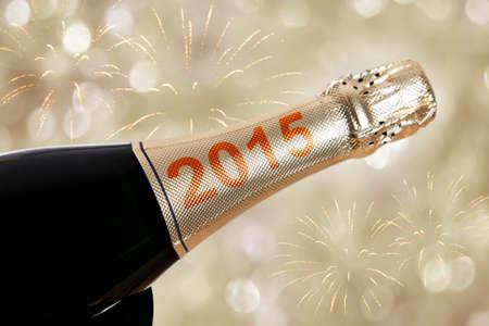 2015 champanhe na garrafa para v�spera de ano novo