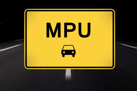 reconsideration: mpu written on traffic sign by night