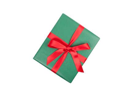 Weihnachtsgeschenk Draufsicht auf weißem Hintergrund Standard-Bild - 34008807