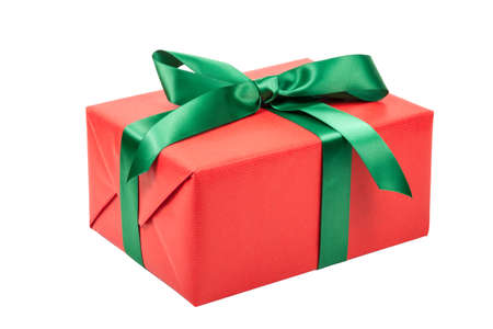 red christmas present isolated