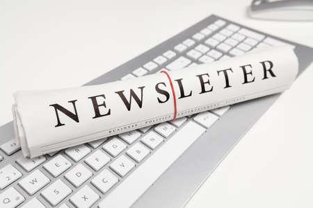 newsletter written on newspaper