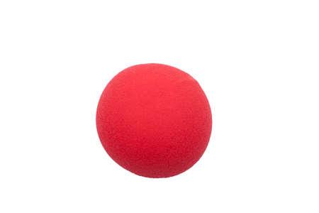 nariz roja: nariz roja de payaso aislado (lugar para el fotomontaje) Foto de archivo