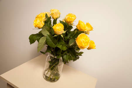 bouqet: Bouqet of yellow roses Stock Photo