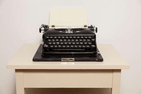 Old-fashioned typewriter photo