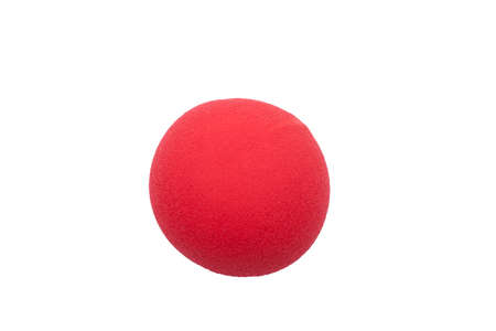red clown nose isolated