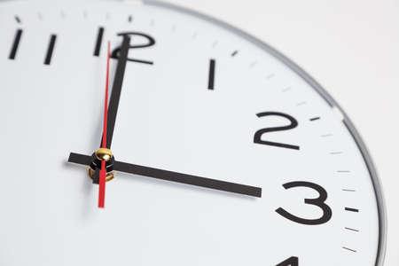 o�??clock: Las tres en punto Foto de archivo