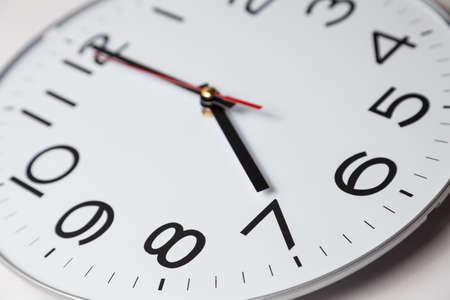 o'clock: Seven oclock Stock Photo