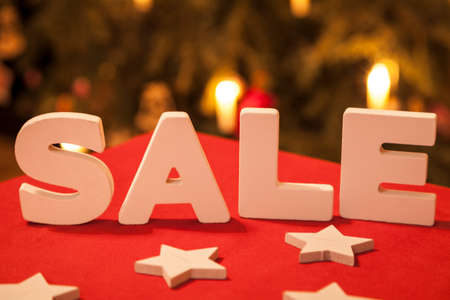 abatement: Sale after Christmas Stock Photo