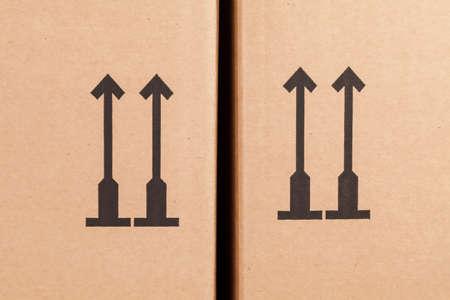 moving box: arrow symbol on a moving box