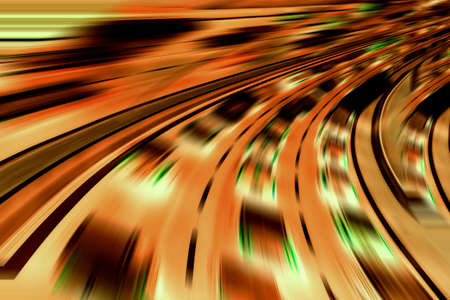 information age: Very fast futuristic cars Stock Photo