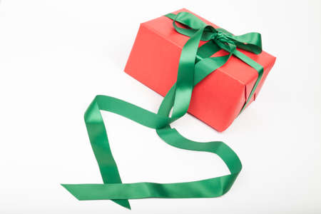 cordially: Christmas present with heart shape