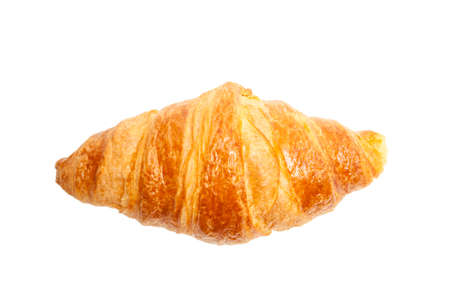 croissant: Croissant top view isolated