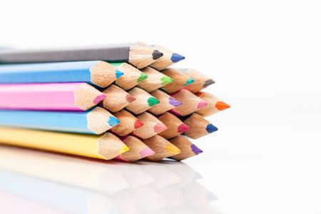 heap: Heap with color pencils