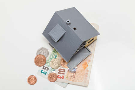 House and GB Pound money Stock Photo