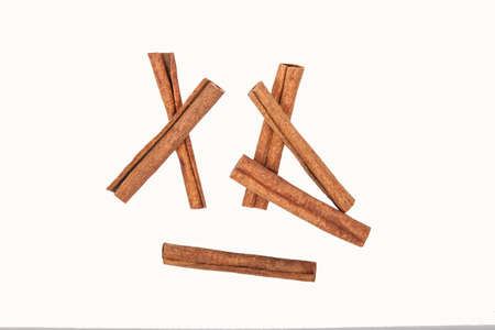 A few cinnamon sticks isolated Stock Photo