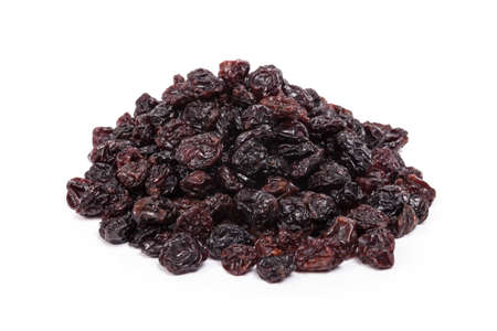 sultana: Sultanas or Raisins heap on white Stock Photo