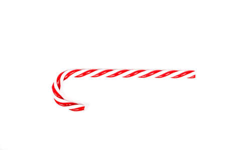 Christmas candy cane isolated