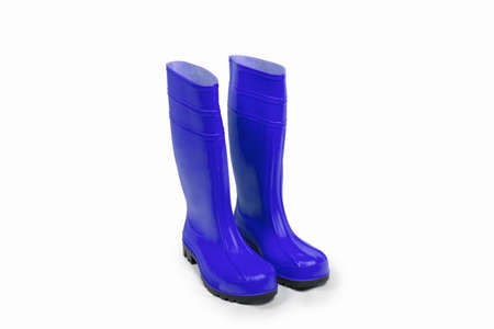 brolly: Rubber boots and umbreall isolated