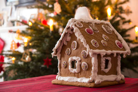 gingerbread house: Gingerbread house for christmas