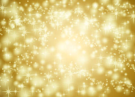 Golden star background illustration Stock Photo