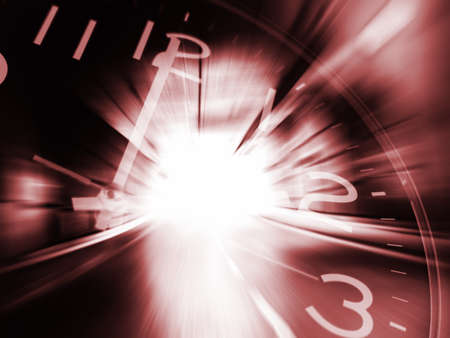 Time machine brown background Stock Photo