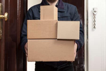 Postman brings a lot packages Standard-Bild