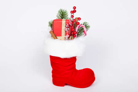 Filled boot of St. Nikolaus Stock Photo