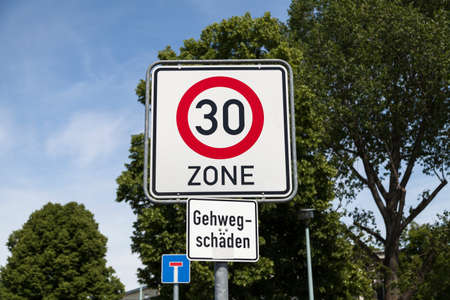 the 30: Road sign 30 zone (german)