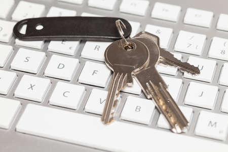 providers: Bunch of keys on keyboard Stock Photo