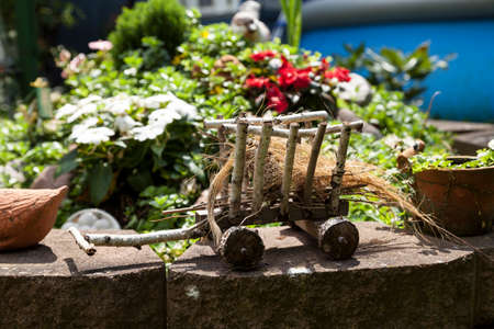 to tinker: Garden decoration Stock Photo