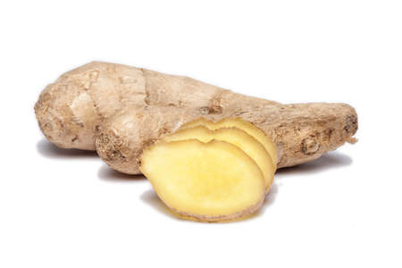 ginger root: Ginger root on white Stock Photo