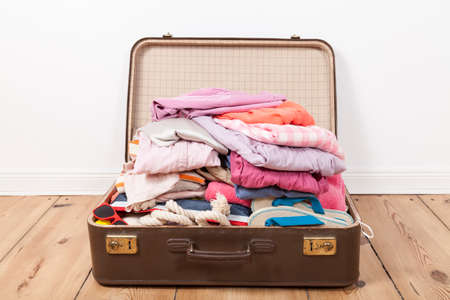 packed: Packed suitcase