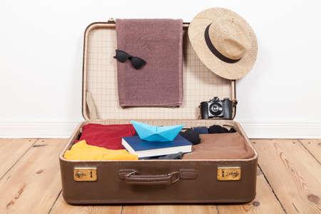 menswear: Suitcase with menswear