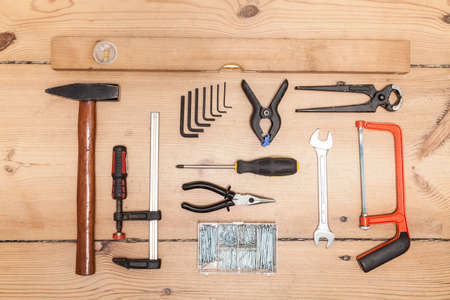 tradespeople: Took kit Stock Photo