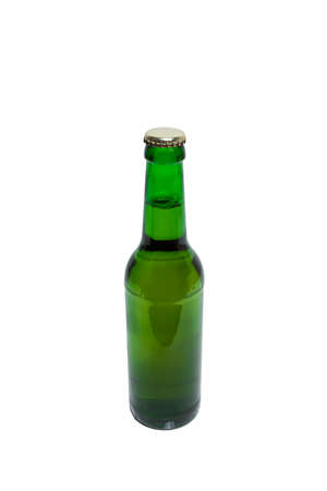 german alcohol: Beer bottle isolated