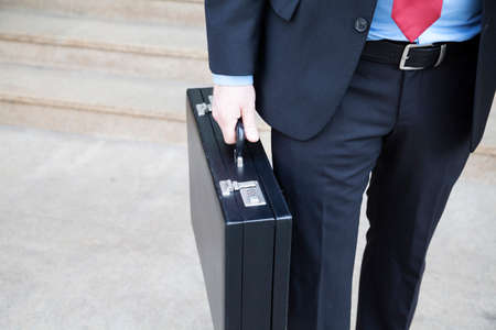 graft: Businessman with briefcase
