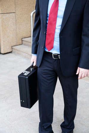 attache case: Businessman with attache case