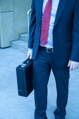 attache case: Businessman Stock Photo