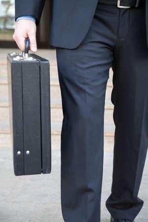 attache case: Briefcase of a businessman
