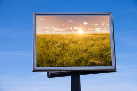 wheatfield: Cornfield on billboard