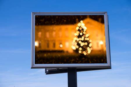 Christmas tree on billboard