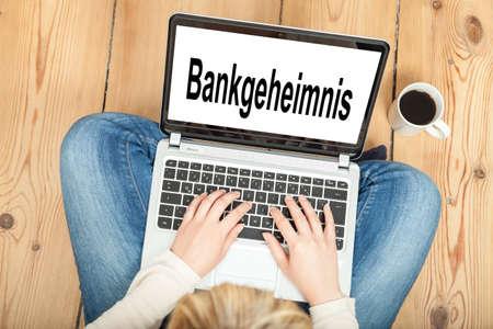 discretion: Bank secrecy Stock Photo