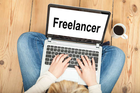 self contained: Freelancer Stock Photo