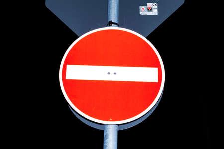 prohibido: Tránsito señal de prohibición