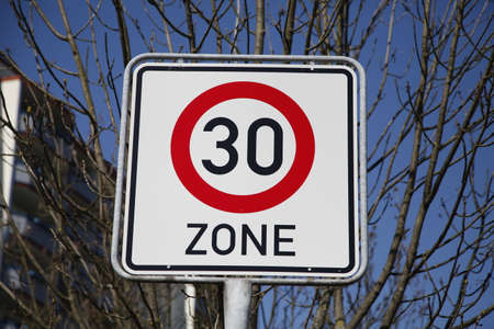 the 30: 30 zone traffic sign